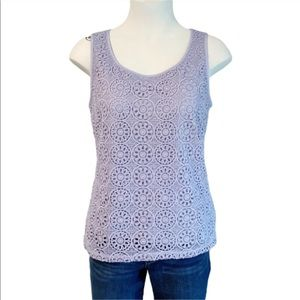 The Limited Lavender Sleeveless Top